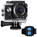 4k Action Camera, SOOCOO Sport Camera UHD WIFI Action Camera Waterproof 20MP 170 Degree Wide Angle Sports Video Camera 2.0 inch LCD Screen/2.4G Remote Control/32GB Micro SD Card/2 Batteries (Black)