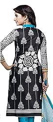 RR Fashion Women's Cotton Unstitched Dress Material (1009_black)