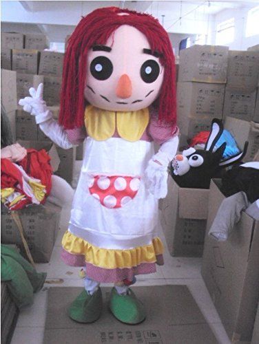 [Girl with Red Nose Mascot Costume for Adults Christmas Halloween Outfit Fancy Dress Suit Free] (Good Teenage Girl Halloween Costumes)