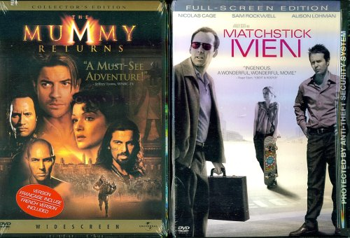 rachel weisz the mummy returns. Cheap The Mummy Returns amp; Matchstick Men - 2 Seperate DVDs in Set Discount