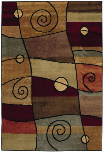 Shaw Living Accents 1-Foot 11-Inch by 7-Foot 6-Inch Rug in Percussion Pattern, Ebony