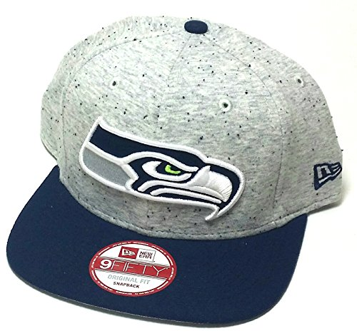 Seattle-Seahawks-New-Era-9Fifty-Heather-Spec-T-Shirt-Gray-Blue-Snapback-Hat-Cap