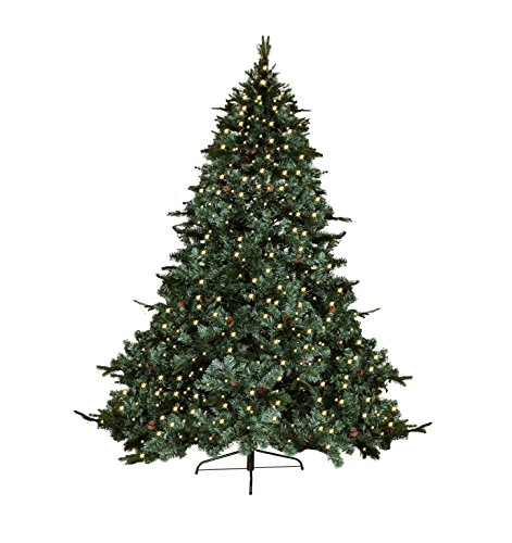 7-FT-CLASSIC-EVERGREEN-ARTIFICIAL-GREEN-MIXED-PEPVC-TIPS-PRE-LIT-LED-LIGHT-UP-BULBS-FEATHER-PINE-NUTS-EIGHT-FEET-PRELIT-HOLIDAY-CHRISTMAS-TREE