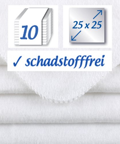 10-Stck-Baby-Molton-Waschlappen-25x25cm-weiss-100-Baumwolle-bis-60-waschbar-das-Original-der-Klassiker-rezzu