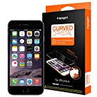 iPhone 6 Screen Protector, Spigen® [Full Cover] [Curved Crystal] JAPANESE BASE PET FILM High Definition (HD) Premium Ultra Clear Screen Protector for iPhone 6 (2014) - Curved Crystal (SGP11299)