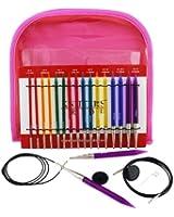 Knitpro knit pro spectra deluxe trousse aiguilles à tricoter 8 tailles différentes 4 cables 50618