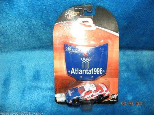 Winner's Circle 1996 Dale Earnhardt Sr #3 Atlanta Olympics Special Paint Scheme Winston All Star Race 1/64 Scale Diecast & Bonus Magnet Hood
