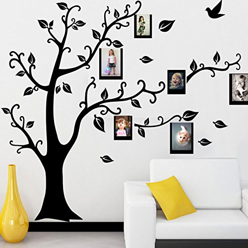 LUCKKYY® Large Photo Frame Memory Tree Branch Wall Decal Home Bedroom Nursery Kids Room Decor Sticker (Right)