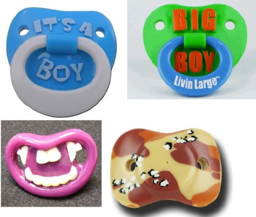 """""""Dollar Days"""" Original Billy Bob Teeth Boys Baby'S Pacifiers 10 For $10 (Assorted) front-613661"""