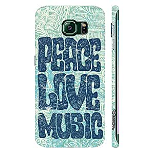 Samsung Galaxy S6 Edge Peace Love Grunge designer mobile hard shell case by Enthopia