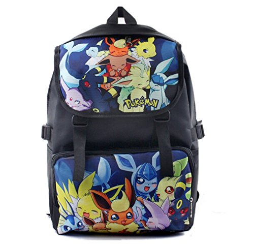 Bonamana-Cartoon-Pokemon-Pikachu-Backpack-Anime-School-Bag-Rucksack-for-Teens