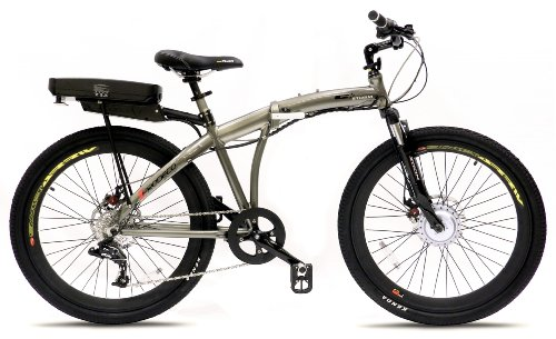 Prodeco V3 Storm 8 Speed Folding Electric Bicycle, Pewter Metallic, 26-Inch/One Size