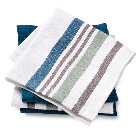 New Dishcloths 4 Pack Blue Basket Weave (Threshold Dishes compare prices)
