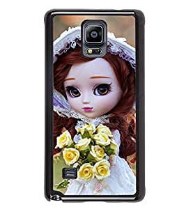 iFasho Girl with flower in hand Back Case Cover for Samsung Galaxy Note 4