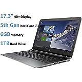HP Pavilion 17.3-inch HD+ Display Laptop (5th Gen Intel Core i5-5200u Processor, 6GB DDR3L RAM, 1TB HDD, Windows 10), Natural Silver