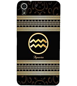 PrintDhaba Zodiac Aquarius D-2687 Back Case Cover for HTC DESIRE 728 (Multi-Coloured)