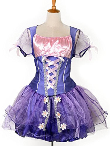 Wraith of East Adult Princess Rapunzel Costume Women Cosplay Halloween Dress