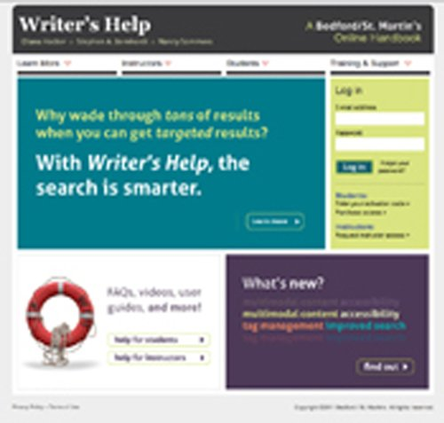 WRITER\'S HELP 2 YEAR ACCESS WITH STUDENT GUIDE 2012 UPDATE