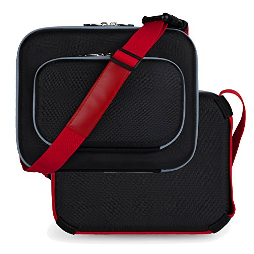 Vangoddy Cube Compact Nylon Shoulder Bag for Dell Latitude / Venue 10 / Venue 5000 / Venue 7000 / Venue Pro Series 10.1 10.5 10.8 Inch Tablet Laptop (Dell Venue 11 Pro Series 7000 compare prices)