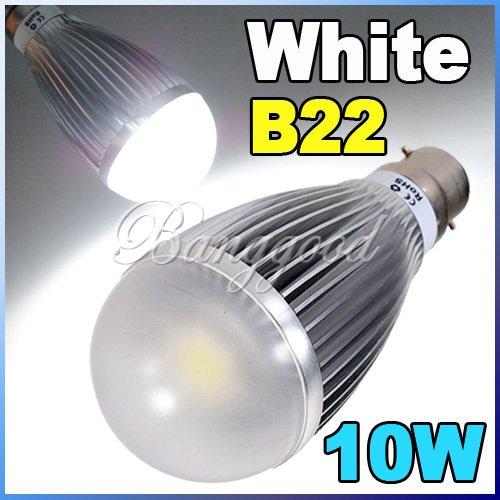 B22 Led Ampoule Lampe Bulb Spot Incandescence 10W 6300K 110-220V Blanc Economie
