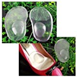Highly Comfortable Great Quality Pair of Non Slip Clear Silicone Shoes Inserts / Pads / Insoles By VAGA®