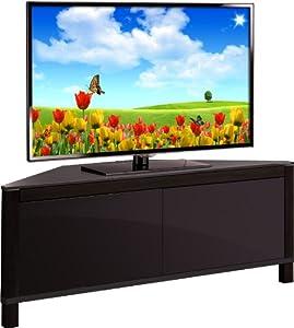 Mda designs volans meuble tv d 39 angle en verre et bois de - Meuble d angle pour tv ecran plat ...