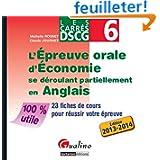 DSCG 6 L'épreuve orale d'économie se déroulant partiellement en anglais