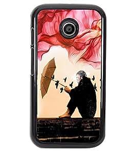 PRINTVISA Idol Premium Metallic Insert Back Case Cover for Motorola Moto E - D5721