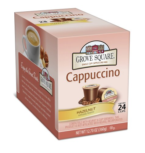 Grove Square Cappuccino, Hazelnut, 24 Single Serve Cups
