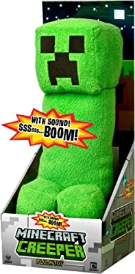 Minecraft Creeper 15 Plush Toy Figure With Sound In Display Box Official Product From Mojang from MOJANG