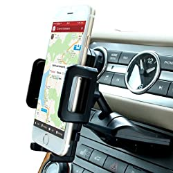 Car Mount,Patekfly Universal One Touch Installation CD Slot Smartphone Car Mount Holder Cradle for iPhone 6 6(+) 6S 6S and Other Smartphone