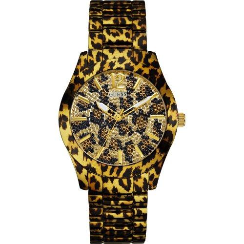 Guess W0001L2 - Reloj para mujer con correa de resina, multicolor / gris