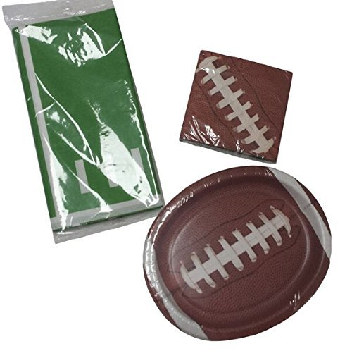 mancave-super-bowl-football-sunday-party-kit-for-8-guests-huge-plates-napkins-table-cover-bundle-by-