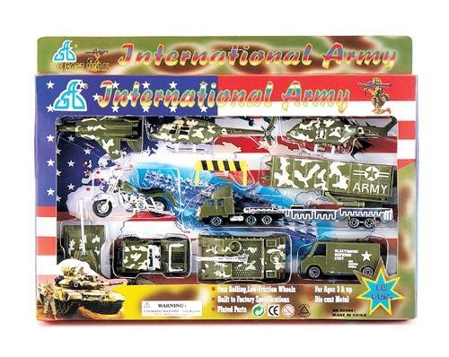Toy Military International Army Toy Play Set - 10 Pieces