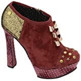 Babycham - Layla Berry/Gold Bootie, Red