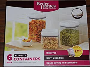 Better Homes And Gardens 6 Piece Flip Tite Containers White Kitchen Dining