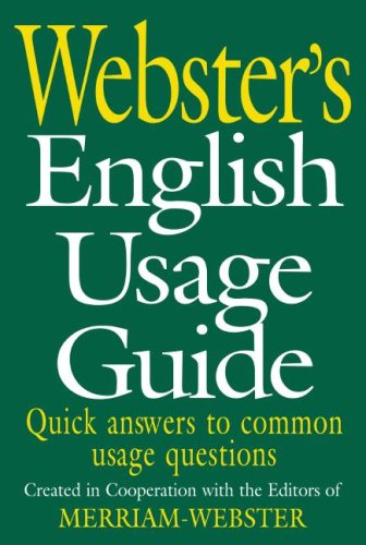Webster's English Usage Guide