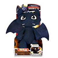 "DreamWorks Dragons Defenders of Berk - Squeeze & Growl Toothless, 11"" Plush with Sound FX from Spin Master"