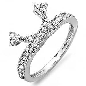 Amazon.com: 0.50 Carat (ctw) 14k White Gold Round Diamond