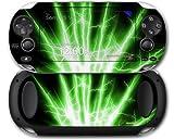 Sony PS Vita Skin Lightning Green by WraptorSkinz