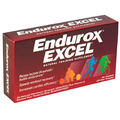 Endurox Excel Maximum Strength, with Vitamin E, Natural Training Supplement, Caplets - 60 ea