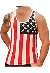 American Summer US Flag Men's Tank Top