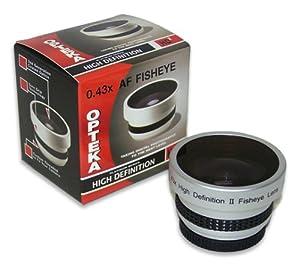 Opteka 0.43x HD² Full Fisheye Lens for Sony Handycam DCR-SX45, SX45/S, SX65, SX65/B, SX85, SX85/S, SR11, XR100, XR200V, XR500V, XR520V, CX130, CX160, CX160/B, CX550V, CX560V, CX560V, CX700V, HC9, XR550V, HVR-A1U, HD1000U and HXR-MC50U Camcorder