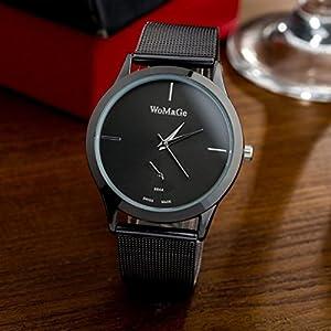 Vovotrade Aleación de reloj de la correa unisex de estilo minimalista reloj de cuarzo de vovotrade