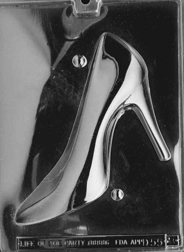 3D HIGH HEEL SHOE 2 Mold Set Dads and Moms Candy Mold Chocolate