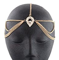 Gold Metal Head Chain with a Large Ce…