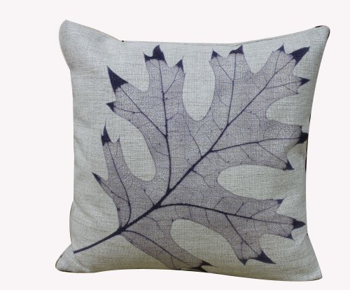 "Touch Classic Novelty Vintage Decorative Cushion Cover Vintage European Style Maple Leaf Design Pillow Cover 18"" X 18"" front-956587"