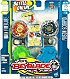Beyblade Metal Fusion - Burning Firestrike 2 pack - Burn Fireblaze BB59A vs Poison Scorpio B110