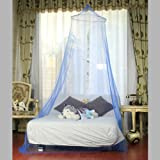 Netting Bed Canopy Round Mosquito Net (Blue) / Romance and Elegance Adder to Your Room and Skin Protector from Pesky Flying Insects