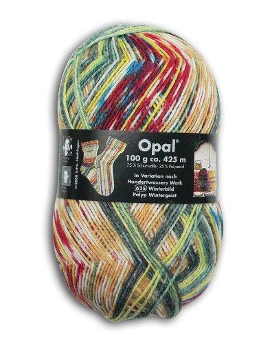 OPAL 靴下用毛糸 2104_Hundertwasser (フンデルトヴァッサー) 100g/玉, 425m
